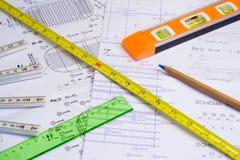 измерять аппаратур конструкции Стоковая Фотография RF