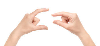 измерять изолированный руками стоковая фотография rf