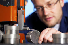измерять макроса инженера стоковое изображение rf