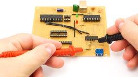 Измерять доску электроники стоковые изображения rf