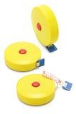 измерять связывает желтый цвет тесьмой 3 Стоковое фото RF