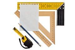 Измерять угол и длину Стоковое Изображение