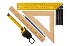 Измерять угол и длину Стоковые Фото