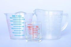 измерять чашек Стоковые Фото