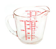 измерять чашки Стоковые Изображения