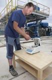 измерять человека индустрии стоковое изображение rf