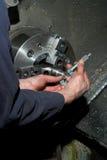 измерять lathe диаметра Стоковое Изображение RF