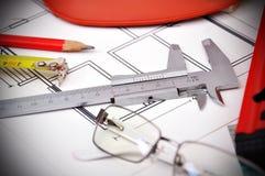 Измеряя аппаратуры Стоковое Изображение