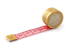 измеряя белизна правителя дег Стоковая Фотография
