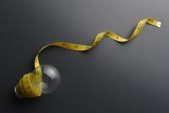 Измеряя лента с шариком Стоковое Изображение RF