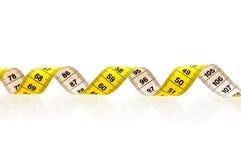 измеряя желтый цвет ленты Стоковое Изображение RF