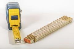 Измеряя инструменты - изолированные на белизне Стоковое Изображение