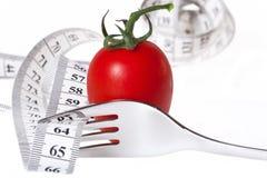 Измеряя лента - здоровая еда и диетпитание Стоковые Изображения