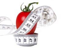 Измеряя лента - здоровая еда и диетпитание Стоковые Изображения RF