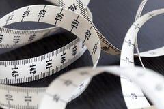 Измеряя лента портноя Крупный план, макрос Стоковые Фото