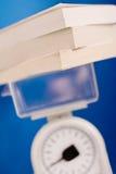 Измеряя ноу-хау, баланс измеряет кучу заграждения стоковые изображения rf