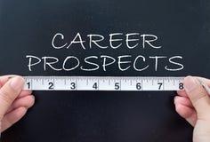 Измеряя перспективы карьеры стоковые изображения rf
