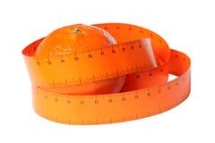 измеряя померанцовая лента Стоковое Изображение RF