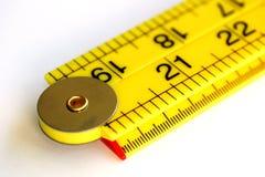 Измеряя правитель Стоковые Фото