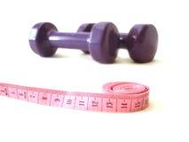 измеряя розовая лента Стоковая Фотография