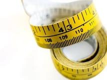измеряя свернутая лента вверх Стоковые Изображения RF