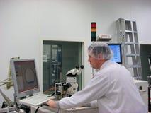 измеряя станция оператора стоковое изображение rf