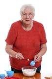 измеряя старшая женщина Стоковые Изображения