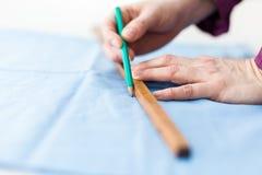 Измеряя ткань стоковые изображения rf