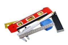 измеряя установленные инструменты Стоковые Фотографии RF