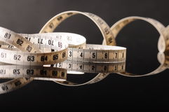 измеряя tapeline Стоковое Фото