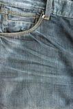 Изнашиваемый крупный план джинсов карманный для предпосылок Стоковые Фото