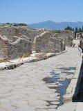Изнемогающая жара поднимает над руинами Помпеи в Италии стоковое фото rf
