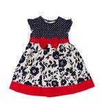 износ детей s Платье младенца на белой предпосылке Стоковая Фотография RF