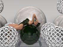 износ привлекательной девушки фетиша принципиальной схемы будущей сексуальный иллюстрация вектора