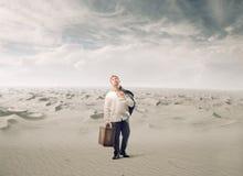 Изнурённый в пустыне Стоковое Фото
