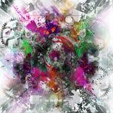 Изображение абстрактного искусства иллюстрация штока