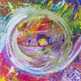 Изображение, абстрактный покрашенный холст как multicolor предпосылка стоковое фото rf