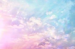 Изображение абстрактных пастельных облаков и неба с текстурой Стоковое Изображение RF