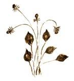 Изображение акварели просто цветка Стоковая Фотография RF