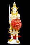 Изображение ангела в тайском искусстве прессформы стиля Стоковая Фотография RF
