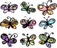 изображение бабочек стилизованное Стоковые Изображения