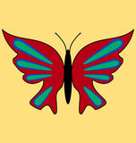 Изображение 4 бабочки Стоковые Фото