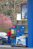 Изображение бензоколонки на улице Стоковая Фотография