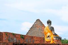 Изображение Будды на Ram Wat Worachetha, Ayutthaya, Таиланде стоковые изображения