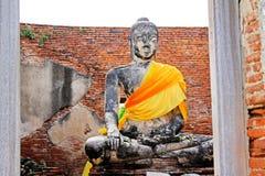 Изображение Будды на Ram Wat Worachetha, Ayutthaya, Таиланде стоковые фотографии rf
