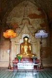 Изображение Будды виска Htilominlo, Bagan, Мьянма Стоковое Фото