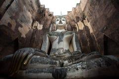 Изображение Будды на Wat Srichum в парке Sukhothai историческом Стоковые Изображения