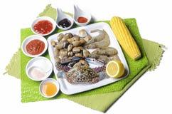 Изображение блюда морепродуктов Стоковое фото RF