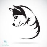 Изображение вектора лайки собаки сибирской Стоковое Изображение RF