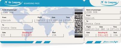 Изображение вектора билета посадочного талона авиакомпании бесплатная иллюстрация
